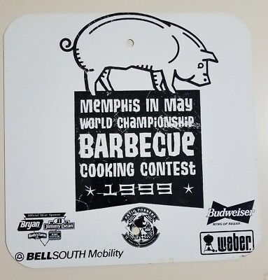 Memphis In May World Championship Barbecue Cooking Contest Metal Sign 1999 Bbq