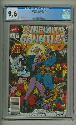 Infinity Gauntlet #6 (CGC 9.6) White pages; Thanos; Avengers; Starlin (c#20016)