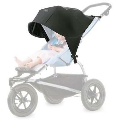Outlook Solar Shade with Zip (Black) Pushchair Stroller Buggy Sun Hood Extension