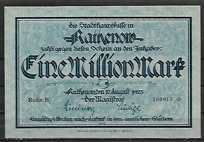RATHENOW 1923 * Groß - Notgeld : 1 Million Mark  --> kfr.