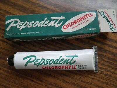 Vintage Pepsodent Toothpaste Tube And box