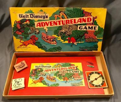 Walt Disney's Adventureland Game Parker Brothers 1950's