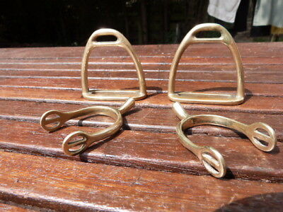 Lovely Small Antique Vintage Solid Brass Stirrups & Spurs.paperweights.