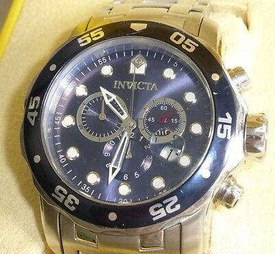 383faad5e INVICTA MEN'S 0070 Pro Diver Chronograph Blue Dial 200M Watch ...