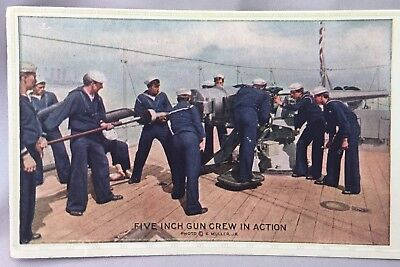 1940s WWII NAVY GUN Crew First St Bank BERTRAND Nebraska Advertising Ink Blotter