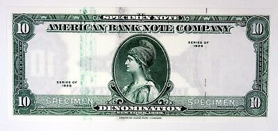 American Bank Note Co Advertising Specimen Note 1929 Malaysia Tiger Wmk 1970s