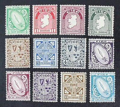CKStamps: Ireland Stamps Collection Scott#106-117 Mint 2NH 10H OG