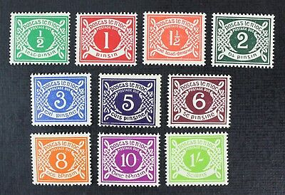 CKStamps: Ireland Stamps Collection Scott#J5-J14 (10) Mint 7NH OG, 1/2c 1c 5c H