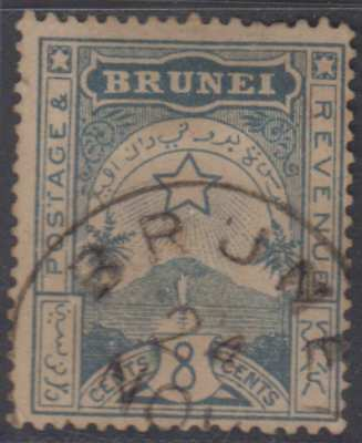 BC BRUNEI 1895 STAR Sc A6 USED SCV$50.00