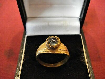 Ancient Byzantine / Medieval Ring With 'stone'--Detector Find
