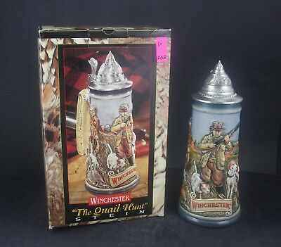 1998 Budweiser Winchester The Quail Hunt Limited Stein /3500 (203)