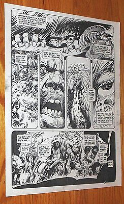 B&W Stat proof art 14.5 X 19 Joe Kubert Tor #2 Page 36 1993 Marvel Epic Comics