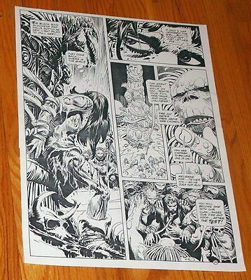 B&W Stat proof art 14.5 X 19 Joe Kubert Tor #2 Page 39 1993 Marvel Epic Comics