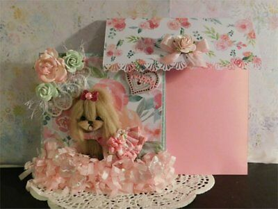 Yorkie Dog Easel Card with matching envelope