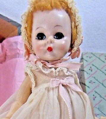 Doll Madame Alexander Mib Box All Original Baby Small Mid Century Vintage Home S