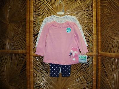 "Child of Mine By Carter Baby Infant Toddler Girl ""Fox"" 3pc set"