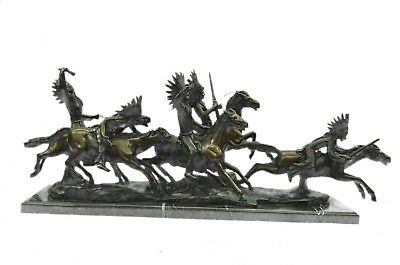 Indian Attack (War Party), A Bronze Figural Groupcarl Kauba (American 1865-1922)