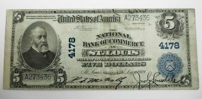 U.S. National Currency The National Bank of Commerce St. Louis, MO 1902 #A273436