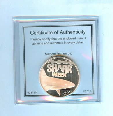 2016 Shark Week Discovery 1 Oz. .999 Fine Silver Round - Unc