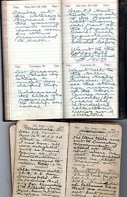1918 & 1922 Handwritten Diary Traveling Preacher Rev. Jones East to West Coast