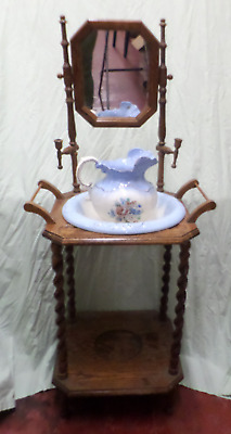 Antique Washstand with Ewer & Basin (750)