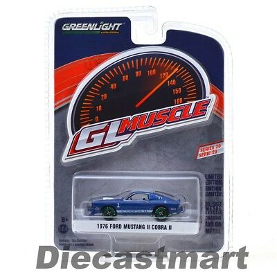 1976 Ford Mustang Ii Cobra Ii Blue 1:64 Diecast Car By Greenlight 13210E Chase