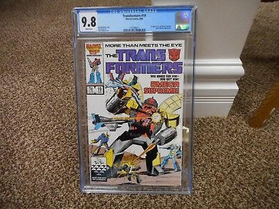 Transformers 19 cgc 9.8 1st appearance of Omega Supreme Marvel 1986 movie MINT