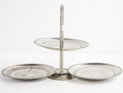 Vintage Silver Plated 3 Tier Serving Dish Tray Made in England