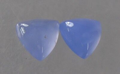 dkd/13.8 cts Blue Chalcedony Cabochons