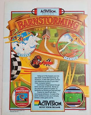 1982 Magazine Ad for Atari Activision Barnstorming Video Game
