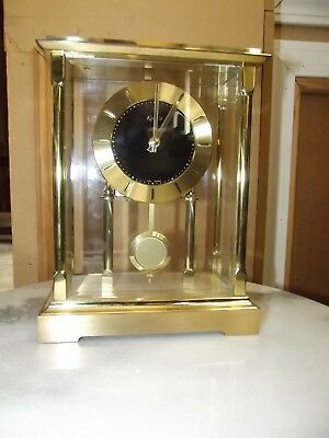 Kundo German Brass and Glass Mantle Clock - For Parts or Repair
