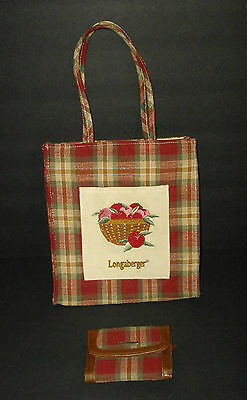 Longaberger Lunch Bag Tote and Wallet Orchard Park  Apples