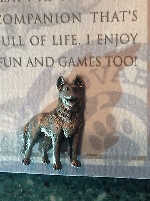 Russ Purebred Puppies GERMAN SHEPHERD Dog Bookmark & Pewter Tack Pin NEW