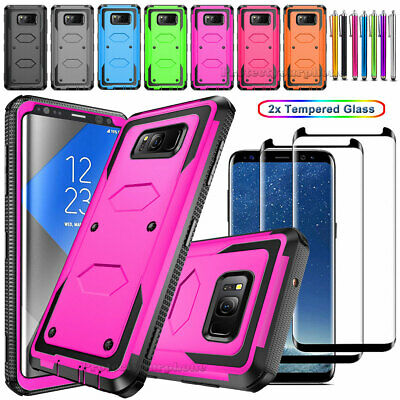 Samsung Galaxy Note 9/8/S8/S9 Plus Hybrid Heavy duty Armor Hard Cover Phone Case
