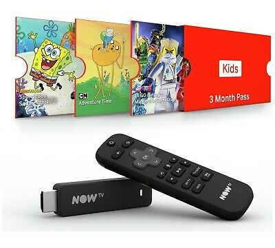 NOW TV Smart Stick Full HD 1080p Voice Search + 3 Month Sky Kids Pass.