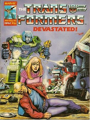 THE TRANSFORMERS # 62 / 24th MAY 1986 / MARVEL UK COMIC  / V/G / VERY RARE