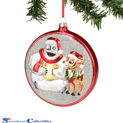 Department 56 Bumble and Rudolph Glass Ornament Retired