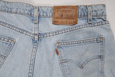 LEVIS VINTAGE 1997 USA MADE 505 0234 MENS 34 X 32 orange tab JEANS #501 STAMP