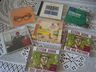 JOB LOT of 7 ELTON JOHN CD;s YELLOW BRICK ROAD DUETS SONGS WEST COAST THE RIVER
