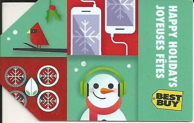 Happy Holidays Mint Gift Card From Best Buy Canada Bilingual No Value
