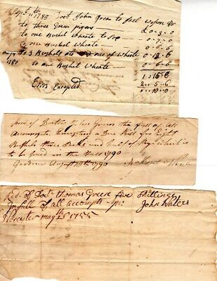 18th Century, Worcester, Mass. document group to Dr. John Green, payment issues