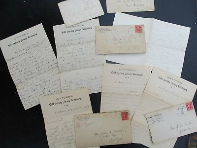 1903-08 Gifford family Jersey Creamery/Camden,New York signed letters,cover lot!