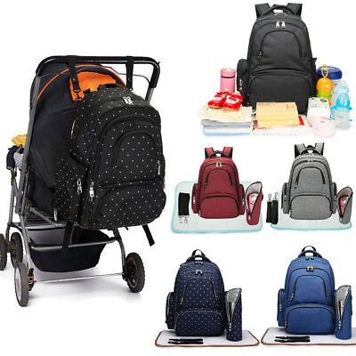 4pcs Maternity Bag Baby Changing Bag Backpack Nappy Diaper Mummy Rucksack