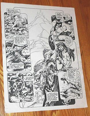 B&W Stat proof art 14.5 X 19 Joe Kubert Tor #2 Page 37 Marvel Epic Comics