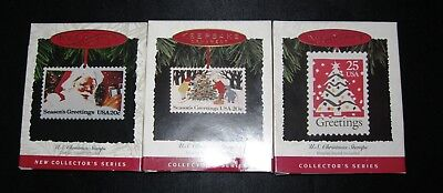 Hallmark US Christmas Stamps - First Three of Series 1993-1995