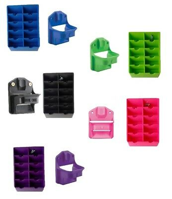 Matching Clipper Keeper & Blade Storage Rack Sets for Stylists Groomers Barbers