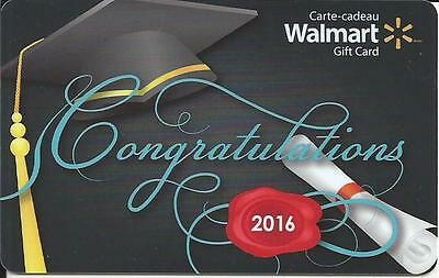 New Congratulations 2016 Mint Gift Card From Walmart Canada Bilingual