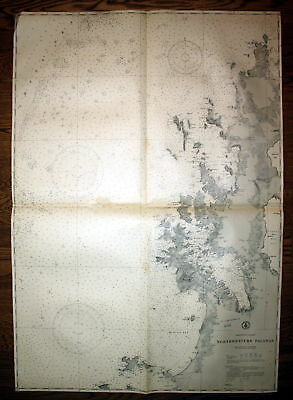 1937 Philippine Islands Northwestern Palawan Philippinen map Karte chart Plan