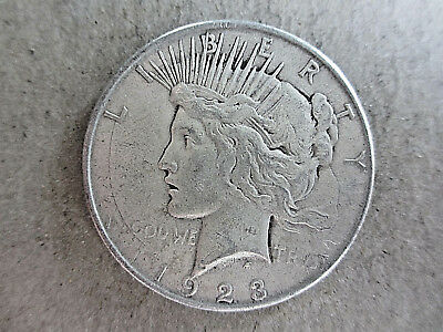 1923-D Silver Peace Dollar About uncirculated