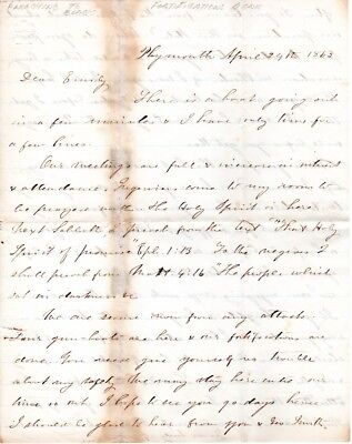 1863, 46th Mass. Infantry, Chaplain George Gorham, letter, preaching to  negroes